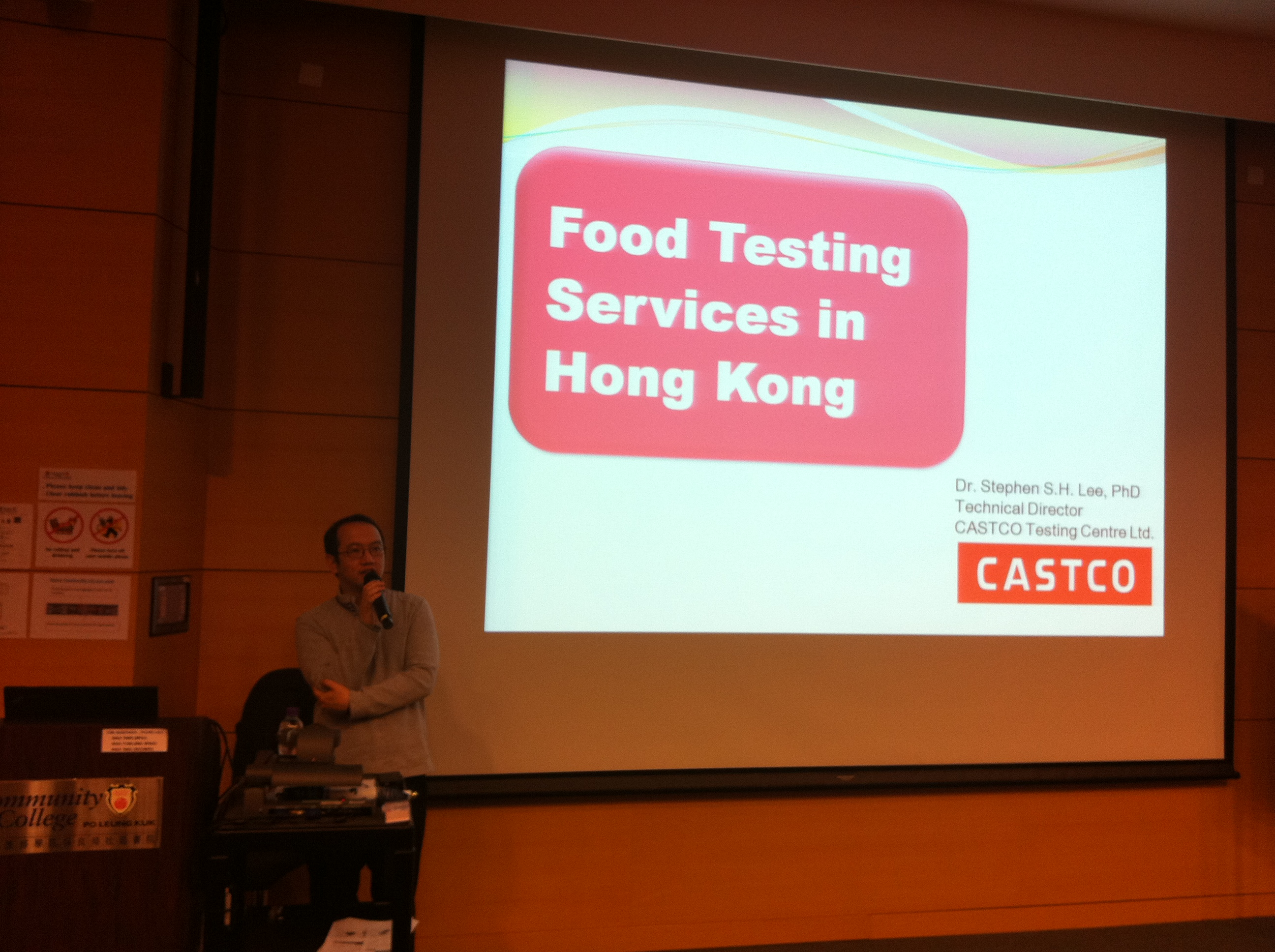 Guest Seminar on Food Testing Industry in Hong Kong - Photo - 1