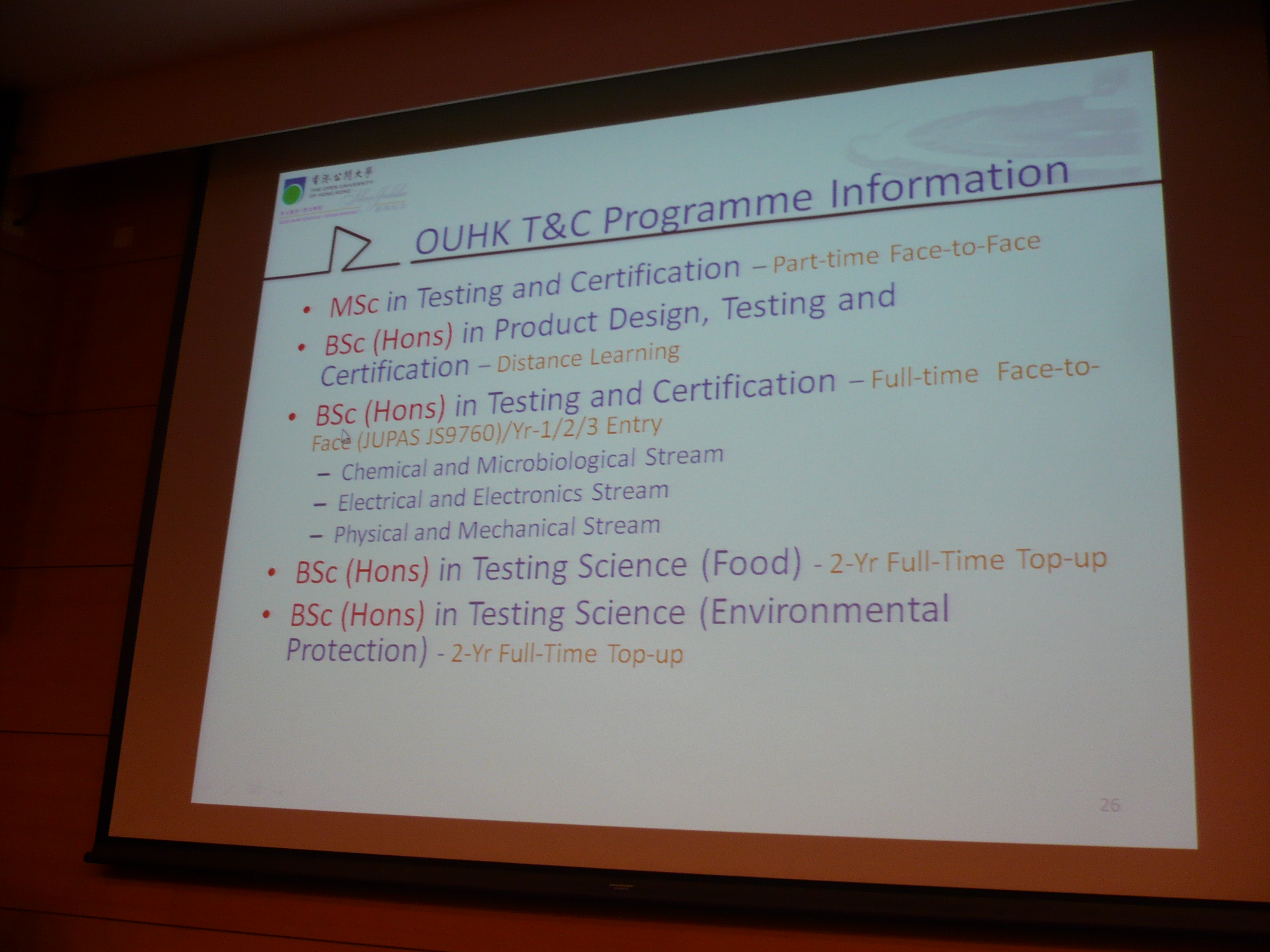 Seminar on the BSc in Testing Science/Testing and Certification Programmes (OUHK) - Photo - 9